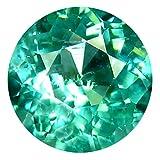 0.50 ct Round Cut (5 x 5 mm) 100% Natural Paraiba Blue Color Apatite Gemstone