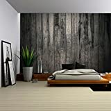 wall26 - Old Dirty Wooden Wall - Removable Wall Mural | Self-adhesive Large Wallpaper - 100x144 inches