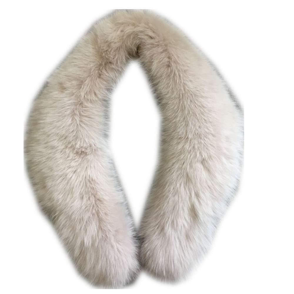 Gegefur Genuine Fox Fur Collar Scarf Female Winter Fox Fur Collar Warm Shawl (90cm, light pink)