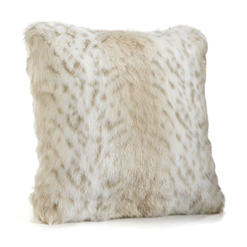 Lynx Throw - Fabulous Furs: Faux Fur Luxury Pillow, Lynx, Available in standard size 18