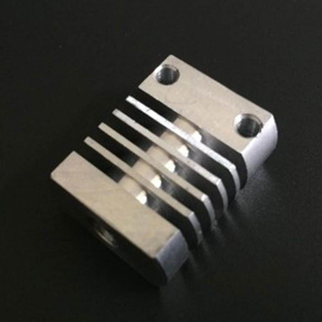 Blue Baoblaze 22x27mm Aluminum Heat Sink Heatsink Cooling for 3D Printer Extruder Silver