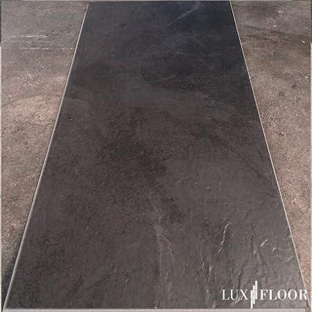 Clic suelo de vinilo combinado 2107 Pizarra Negro grosor 4,2 ...