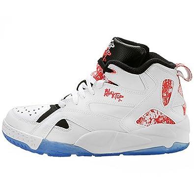 Reebok Men's Blacktop Boulevard Basketball Shoe, White/Punch Pink/Reebok  Navy, 8.5