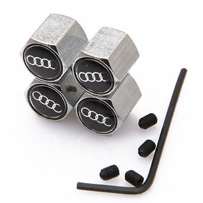 CzlpV Anti-theft Metal Car Wheel Tyre Tire Stem Air Valve Cap For Audi (Style 1): Automotive