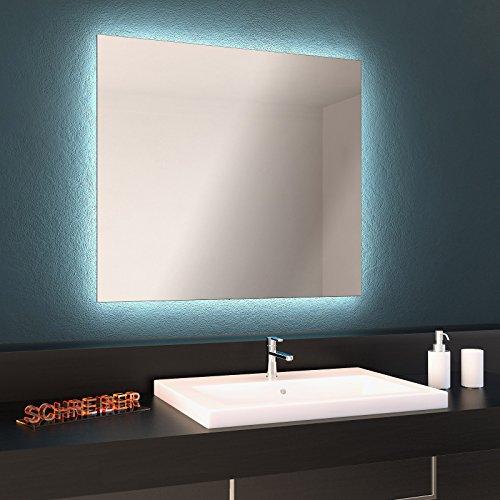 Badspiegel mit umlaufender LED Beleuchtung, Spiegel mit LED ...