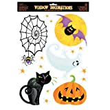Amscan Halloween Icons Vinyl Window Decorations (Each)