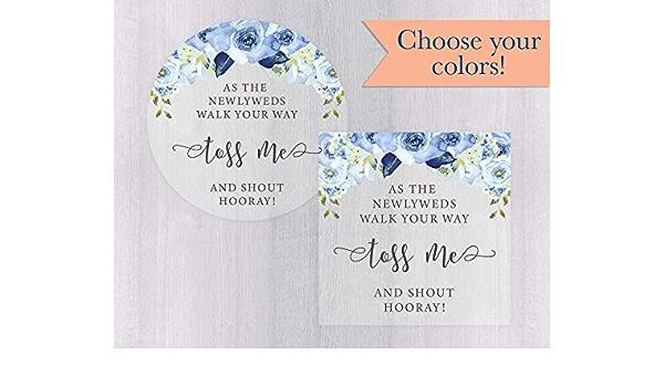 Toss Me Sticker Confetti Stickers Throw Me Stickers Confetti Package Label Personalized Wedding Day Confetti Sticker Petal Bag Sticker Favor