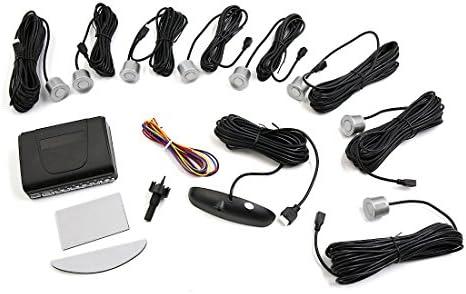 Sourcingmap Coche Kit de 8 Sensores de Aparcamiento Alarma ...