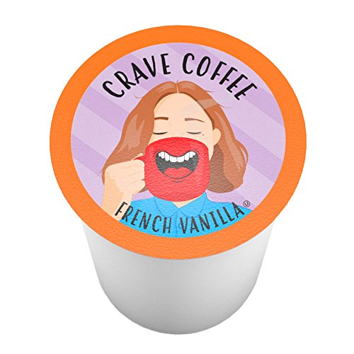 (Crave Flavored Coffee Pods, Compatible with 2.0 K-Cup Brewers, French Vanilla, 100 Count)