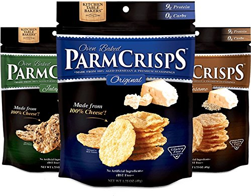 itchen Table Bakers - Parm Crisps, Aged Parmesan, Jalapeno, and Sesame Parmcrisp Minis Crisp (Parmesan Crisps)