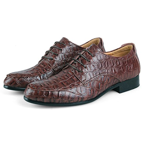 Autumn Melody Fashion British Style Genuine Leather Large Size Men Casual Shoes Size 13 US Dark Brown