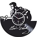 Cheap Elvis Presley Music, Vinyl Record, Silent Mechanism, Home Decor, Kovides Vinyl Wall Clock, Wall Art Sticker, Best Gift for Musician, Gift For Man And Woman, Pop Music, Elvis Presley Clock