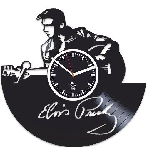 Elvis Presley Music, Vinyl Record, Silent Mechanism, Home Decor, Kovides Vinyl Wall Clock, Wall Art Sticker, Best Gift for Musician, Gift For Man And Woman, Pop Music, Elvis Presley (Elvis Presley Pop Art)