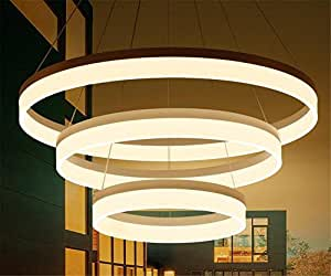 LUCKY CLOVER-A Nordic style 3 Ring Donuts Chandelier Ceiling Light Pendant Light Aluminium Alloy Design LED Lighting Fashion Choice(φ40+60+80cm)