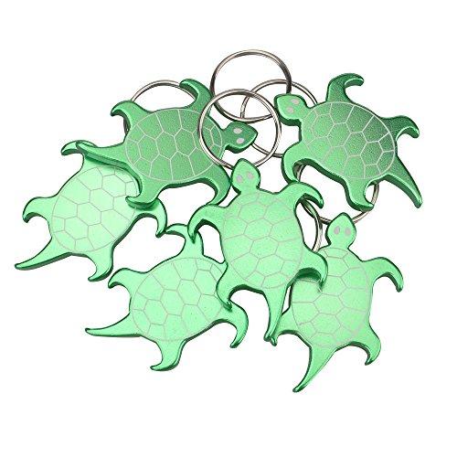 Swatom Turtle Aluminum Alloy bottle opener keychain, Creative Gifts, 6 Piece
