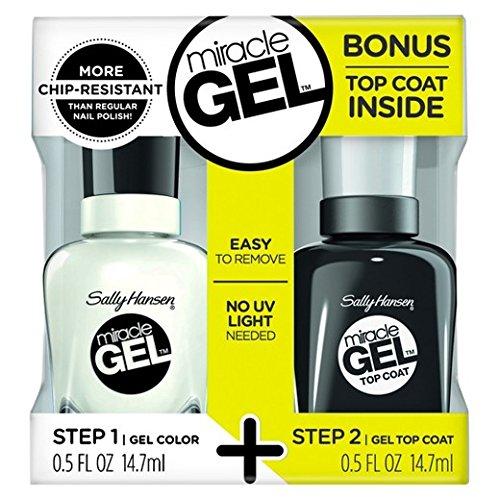 Sally Hansen Miracle Gel, Nail Polish 789/450 Get Mod + TOP COAT (1 PACK) by Sally Hansen