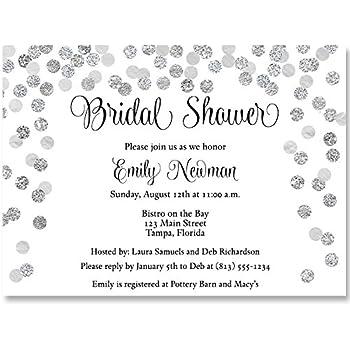 Amazoncom Bridal Shower Invitations Red Black White Confetti
