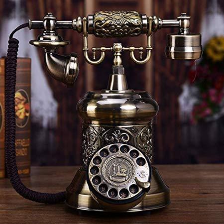 Telefono Retro Bronce De Gama Alta de Metal de la Vendimia ...