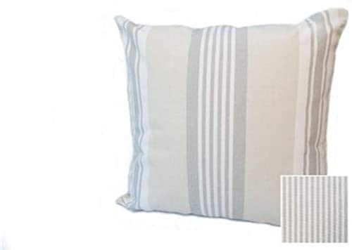 Rennie Rose – Cabana Collection Stripe 24-Inch Pre Stuffed Pillow, Linen