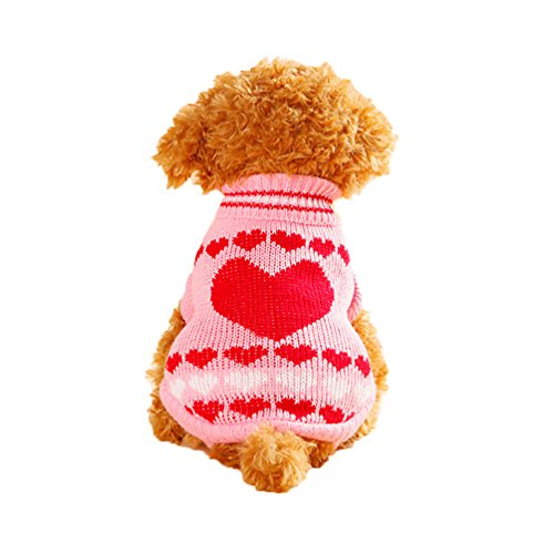 BBEART Dog Sweater Clothes,Cat Puppy Autumn and Winter Coat Warm Padded Soft Acrylic Fibers Breathable Clothing Small Dog Coat Pet Apparel Outwear Pet Clothing (XXS, A)
