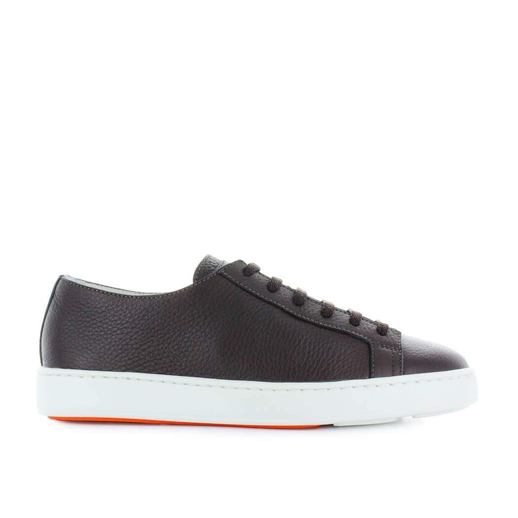 - Santoni Men's MBCN14387BA6CMIAT55 Brown Leather Sneakers