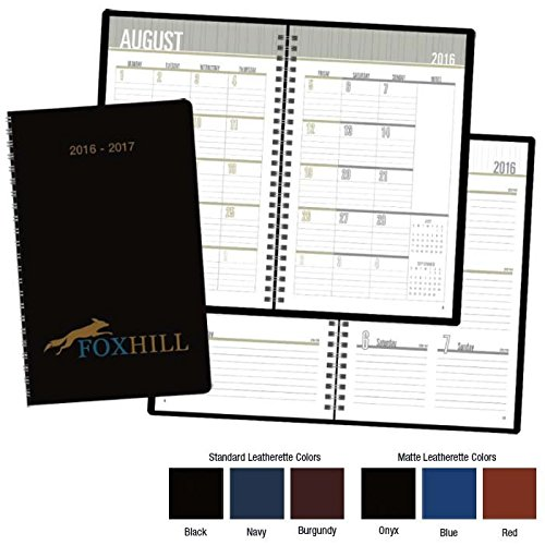 Personalized Academic Monthly and Weeekly Planners (Pack of 100 Planners Custom Printed with Your Logo) Kineticpromos #8106 by Kinetic
