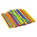 Assorted Colors Giant Smoothie Flexible Straws, Pack of 100