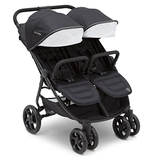 Jeep Destination Ultralight Side x Side Double Stroller, Midnight (Black) ()