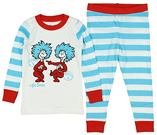 Intimo Toddler Kids The Cat In The Hat One and Thing Two' Pajama Set, Multi, (Cat In The Hat Clothing)
