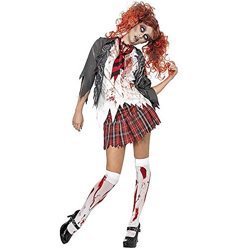[High School Horror Zombie Schoolgirl Costume - Large - Dress Size 14-16] (High School Zombie Costumes)
