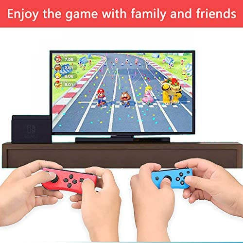 Joy-pad Controllers for Nintendo Switch,Left and Right Controllers with Strap, Replacement for Nintendo Switch Joycon (Red and Blue)