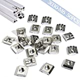 Boeray 50pcs M6 Drop in T Slide Nut for Aluminum Extrusion 3030 Series with Slot 8mm
