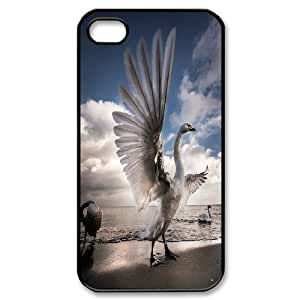 Jumphigh with Open Wings of the Swan IPhone 4/4s Case, [Black]