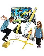 Invento, Stomp Rocket Stunt Planes, Geel, Rood