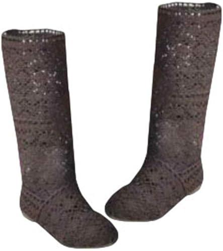 Damen Sommer Stiefel Sandalen Flache Ferse Schuhe Breathable Gladiator Slip On Schuhe Stoff Mesh hohe Stiefel Weiß Schwarz 35 41