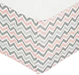 American Baby Company 100% Cotton Tailored Crib Skirt with Pleat, Pink Reviews