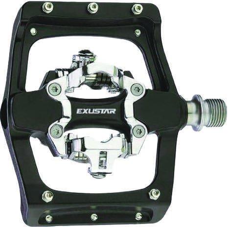 - Exustar Pm-820 2-Side W/Platform Black Pedal SPD