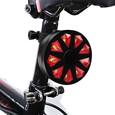 Bicicleta luz trasera, ThorFire Super brillante 9 LED para ...