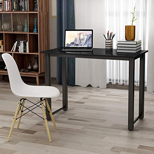 P PURLOVE Modern Simple Design Computer Desk, Study Desk, Table, Writing Desk, Workstation for Home Office, Black