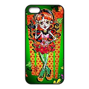 JiHuaiGu (TM) iPhone 4 4s funda Negro Monster High personalizado temático iPhone 4 4s funda - KH7531