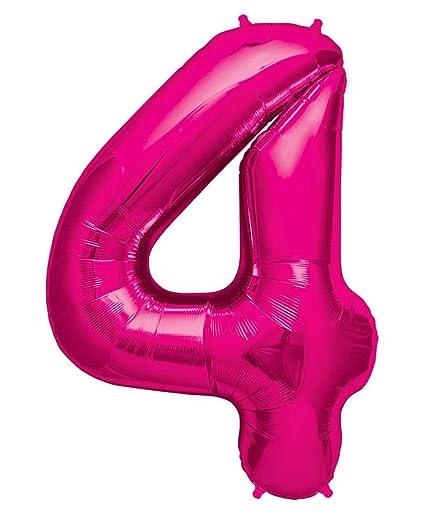 balón número en rosa - XXL aprox. 102cm - De Cumpleaños Fiesta Regalo Decoración Globo