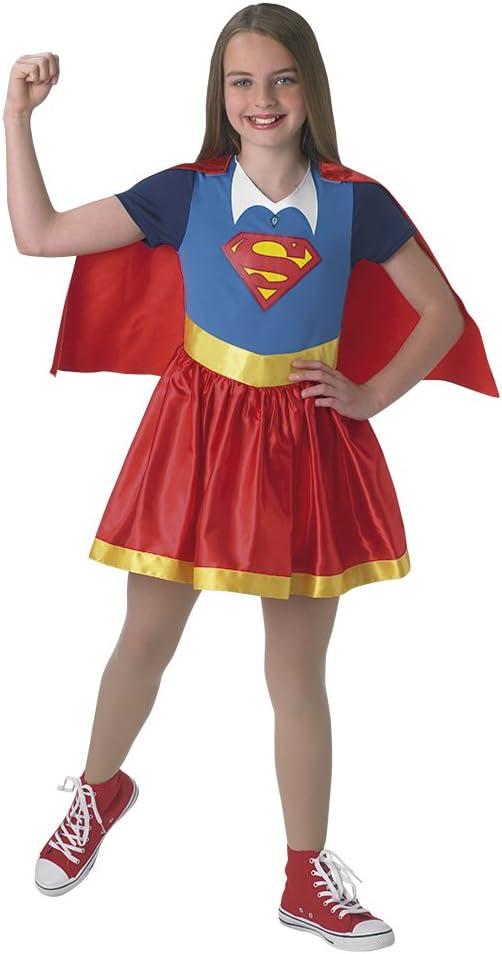 DC Comics - Disfraz de Supergirl oficial para niña, infantil 5-6 ...