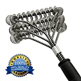 BBQ Grill Brush, 100% Safe Bristle Free BBQ Brush - Best Barbecue Grill Cleaner for Porcelain, Propane, Electric, Infrared, Stainless Steel, Gas, Iron and Weber Grill Grates, 360º Clean