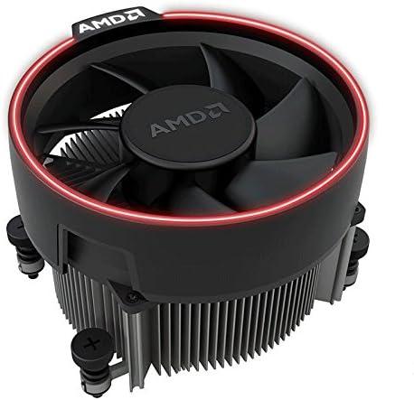 AMD Wraith Spire Socket AM4 - Conector de 4 Pines para CPU con Base de núcleo de Cobre y disipador de Calor de Aluminio y Ventilador de 3,81 Pulgadas RGB LED luz FR Ryzen R7