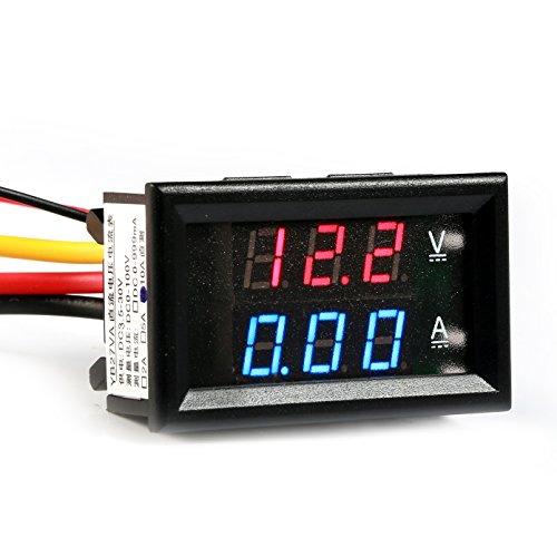 GEREE DC 0-100V / 0-10A Volt Amp Voltmeter Ammeter 2 in 1 (Led Digital Volt Panel Meter)