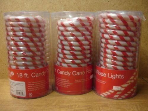 18 ft candy cane rope lights amazon kitchen home 18 ft candy cane rope lights aloadofball Image collections
