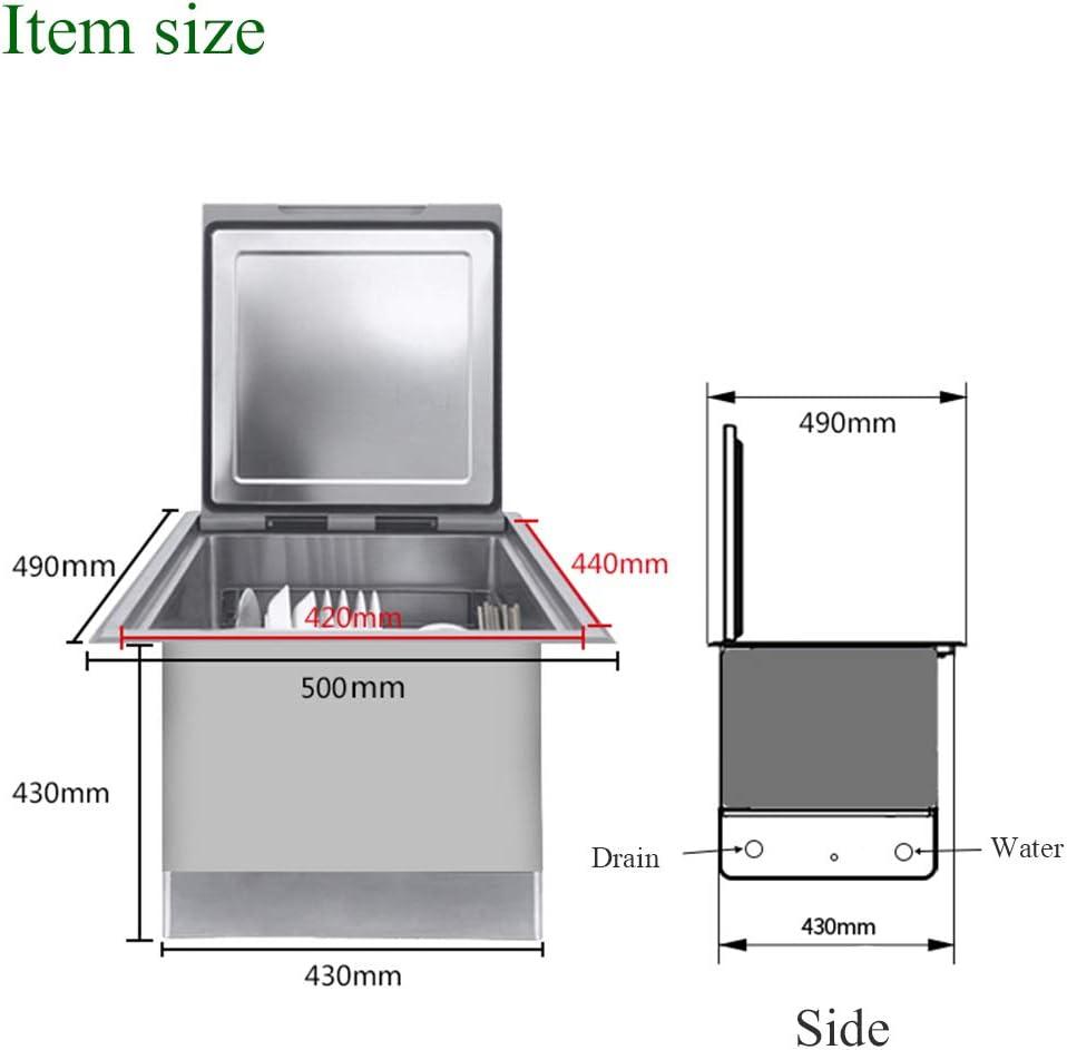 ADKINC Lavavajillas sobre encimera de 1600 W, 8 Cubiertos, con esterilizador y Sistema de Secado, Armario de desinfección - Utensilios de Cocina, Negro: Amazon.es: Hogar