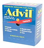 Advil Pain Relief Tablets Ibuprofen 200 mg. (100 Tab. Per Box) 6 Boxes (600 tablets) by Medique - MS73040