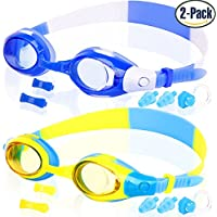 COOLOO Kids Swim Goggles, Pack of 2, Swimming Glasses for...