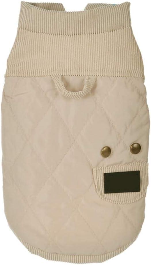 Invierno cálido Color sólido Ropa para Mascotas Chaquetas para Cachorros de 2 Patas Abrigo Grueso de algodón Acolchado para Perros pequeños y medianos